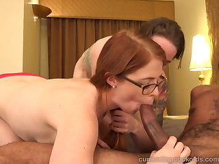 Hot Redhead and Her Skimp Allotment a Chunky Outrageous Flannel