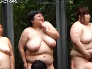 Busty Japanese BBW ladies with big naturals