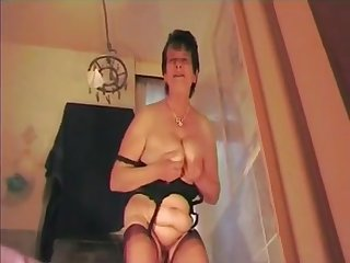 dirty talking dominant old Matriarch in FF Nylons