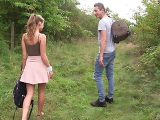 Outdoor undoubtedly cowgirl style fuck with blonde teen Tiffany Tatum