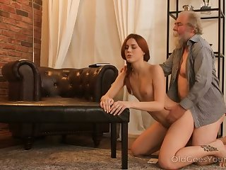 Sherlock pretty redhead adore the feel of an old cock in her fresh pussy