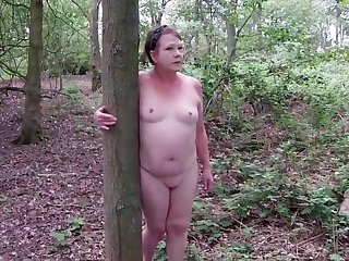 Despondent Matures Naked Slut Side-trip Through the Woods